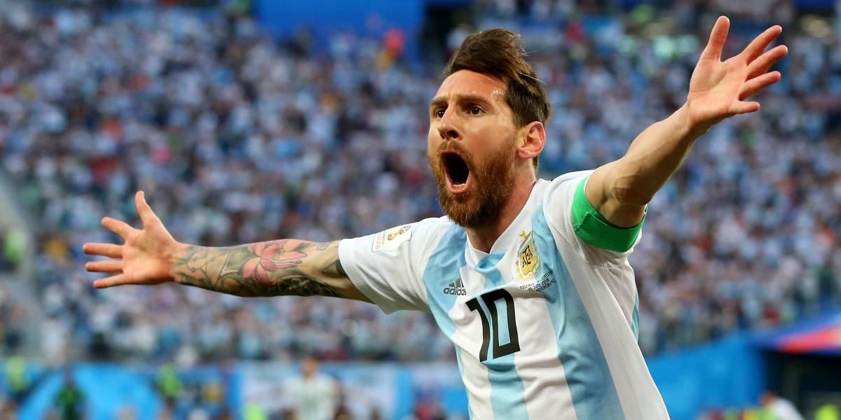 ¿Suerte o coincidencia? Lo que se puso Messi en la pierna para anotar en el Mundial