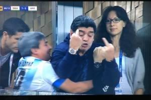 Reacción de Maradona