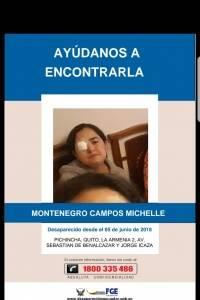 Michelle Montenegro, desaparecida desde el 5 de junio