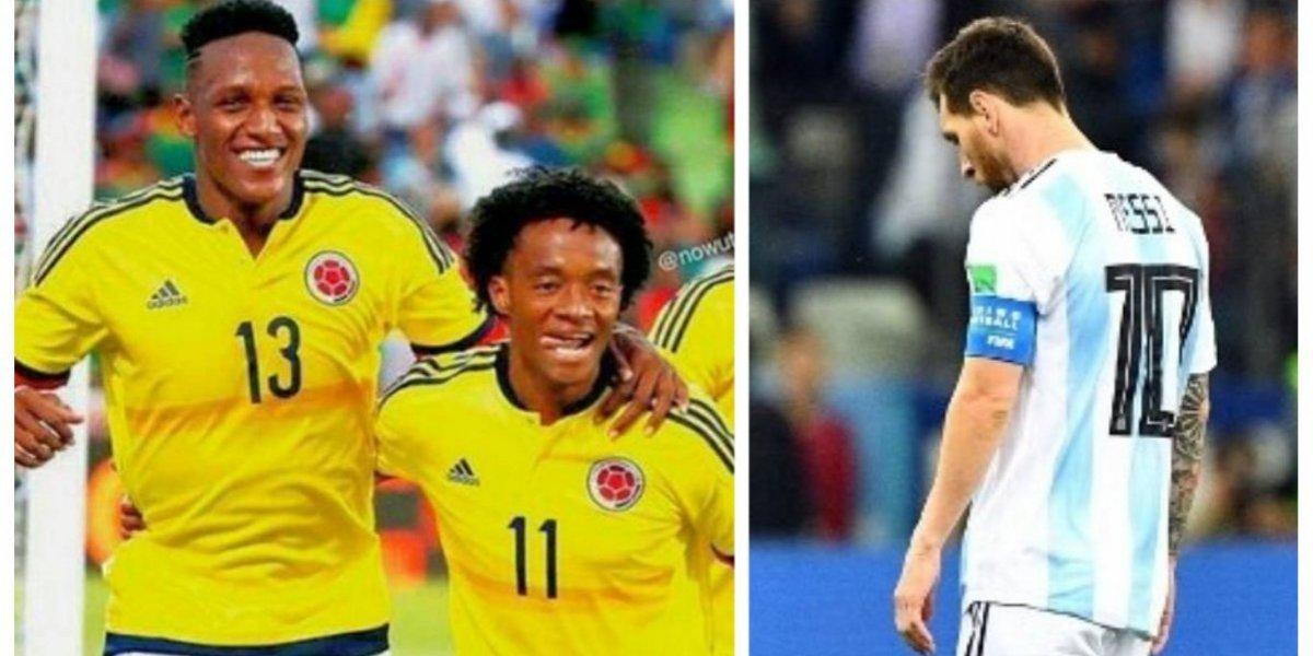 Mina y Cuadrado envían emotivo mensaje a Messi y a Argentina