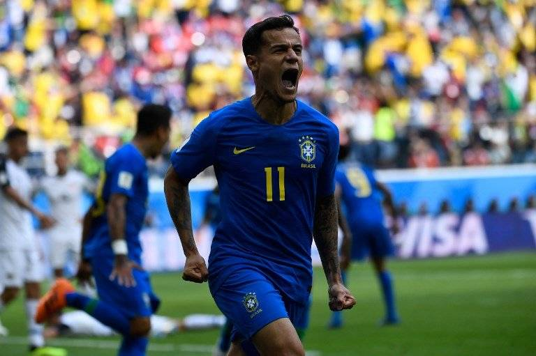 Coutinho inició la esperanza de Brasil ante Costa Rica