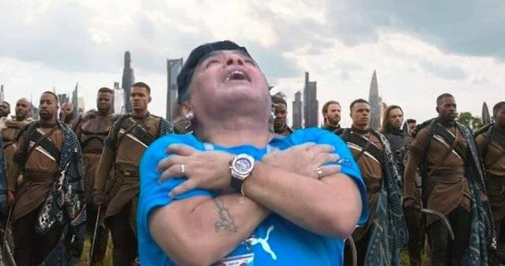 Memes sobre festejo de Maradona Twitter