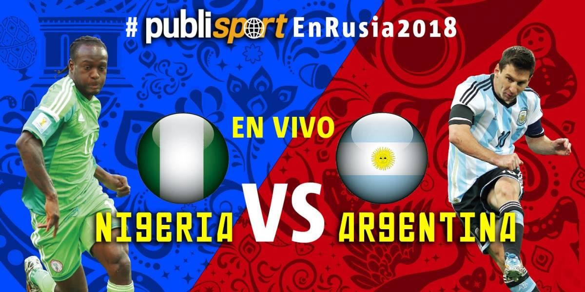Argentina vence 2-1 a Nigeria y clasifica a octavos de final del Mundial