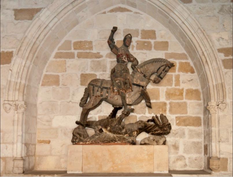 """Estatua de San Jorge sufrió la misma """"restauración"""" que el Ecce Homo"""