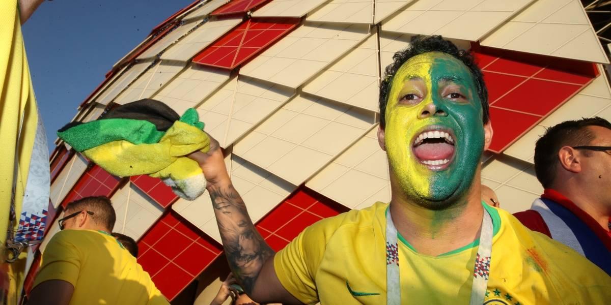 FOTOS: veja imagens da torcida brasileira no jogo Brasil x Sérvia