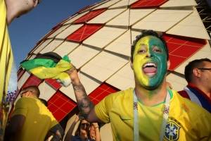 torcida brasileira Brasil x Sérvia