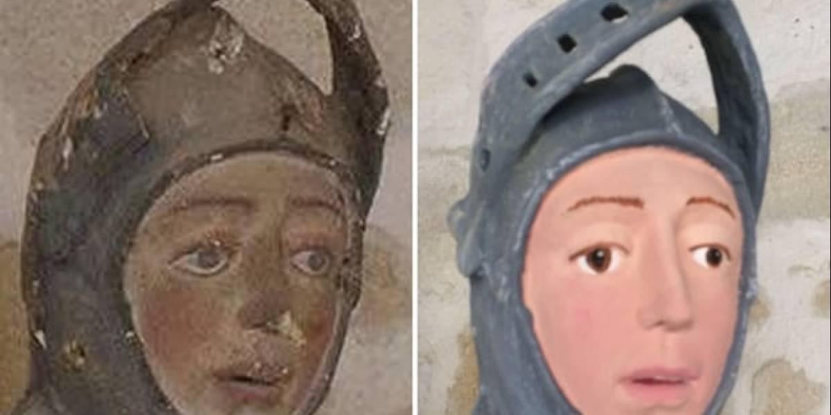 """FAIL: Estatua de San Jorge sufrió la misma """"restauración"""" que el Ecce Homo"""