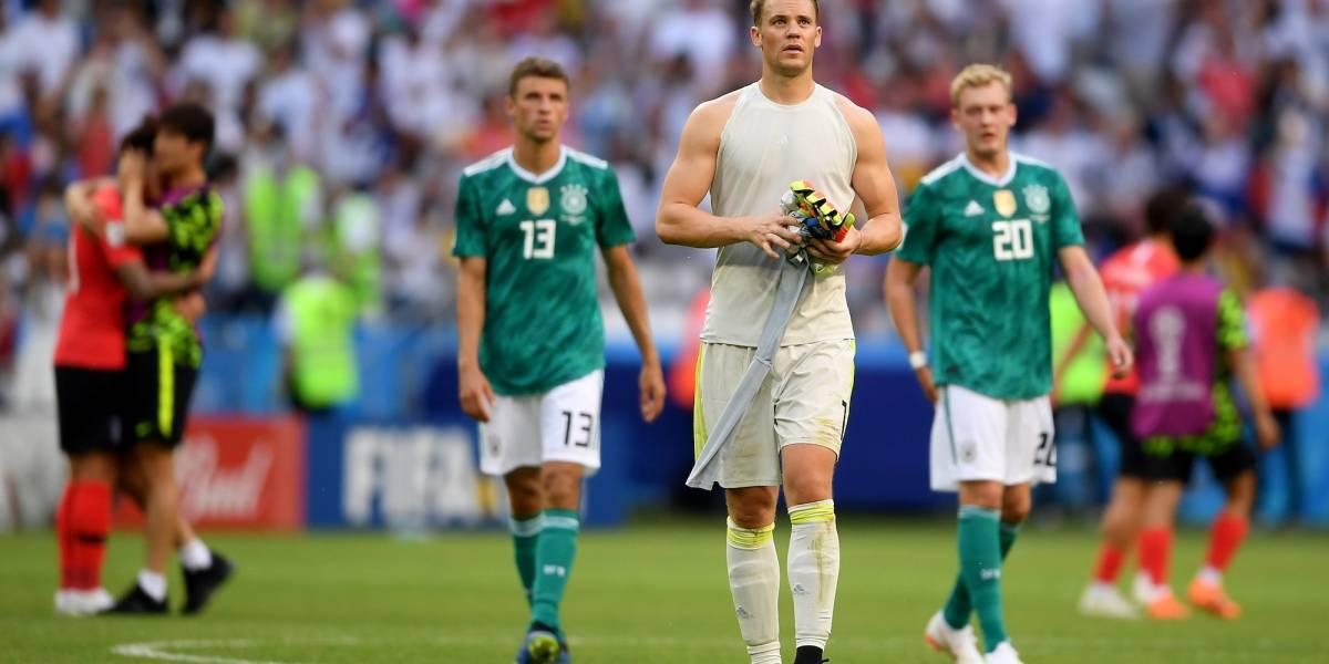 Alemania queda eliminado del Mundial tras derrota con Corea del Sur