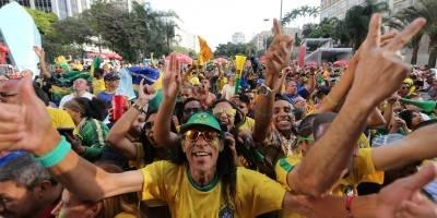 Vale do Anhangabaú - jogo do Brasil