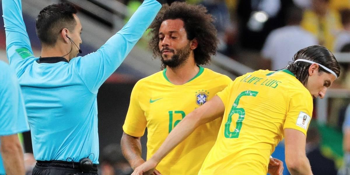 ¡Atención! Marcelo se retira lesionado en el partido entre Brasil y Serbia