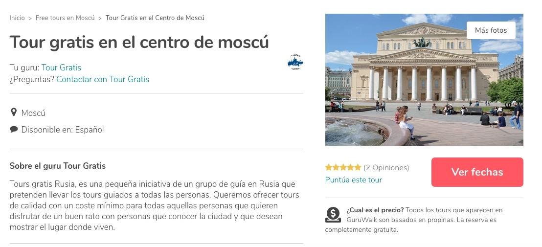¿Buscando dónde pasear en Rusia? la plataforma Guruwalk te ayuda a encontrar tours gratuitos en varias ciudades