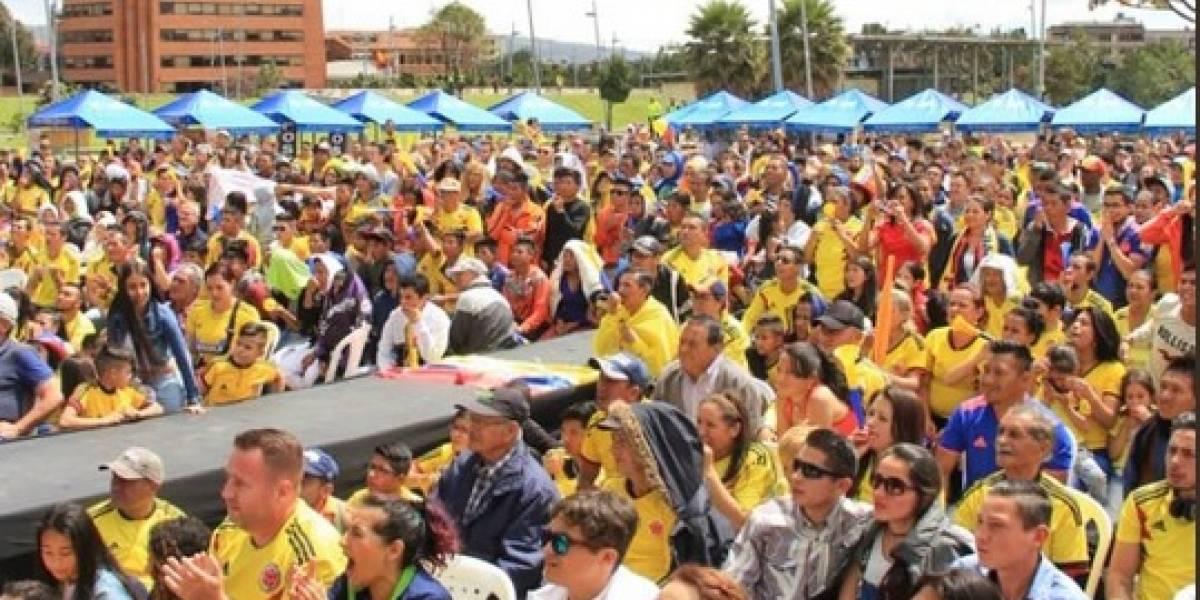 Disfrute Colombia vs. Senegal en las pantallas gigantes dispuestas en Bogotá