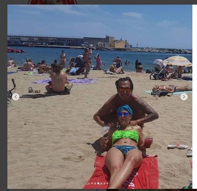 Instagram Marián Sabaté es captada posando en topples en Barcelona