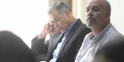 Juan de Dios Rodríguez y Álvaro Dubón, expresidente y exgerente del IGSS, respectivamente.