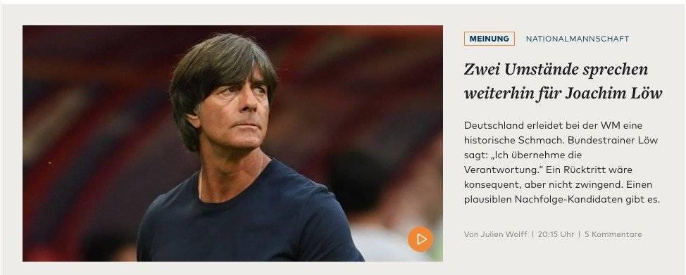 Reacción de los medios alemanes