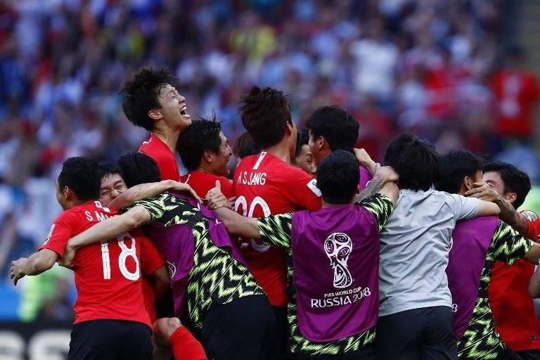 Efusiva fue la celebración de los coreanos tras eliminar a Alemania