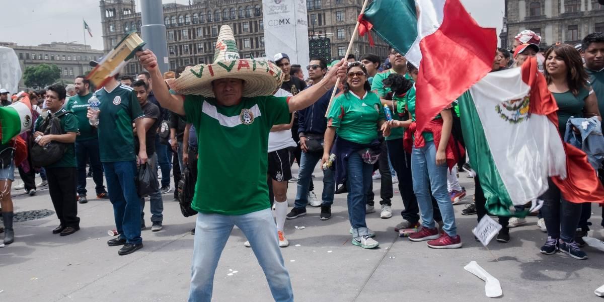 Operativo en Zócalo y Ángel de la Independencia por partido de la Selección Mexicana