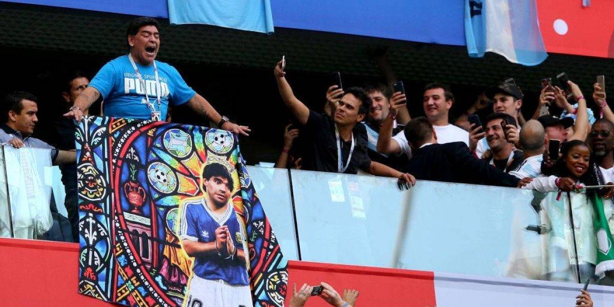 """Maradona tras su show en San Petersburgo: """"Perdón por el susto, estoy bien"""""""