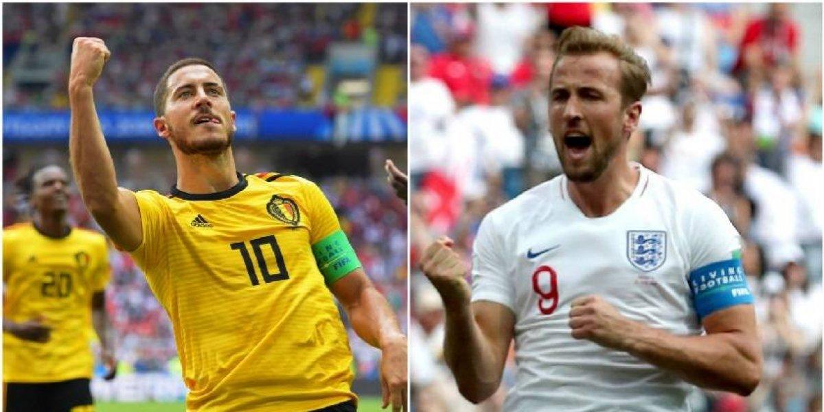 Inglaterra y Bélgica disputan un partidazo, en el que sirve más perder