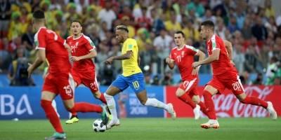 Neymar, em jogo contra a Sérvia