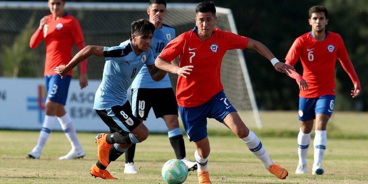 La Roja Sub 20 obtuvo un buen empate en amistoso ante Uruguay en Montevideo