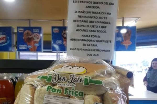 pan regalado en Talca