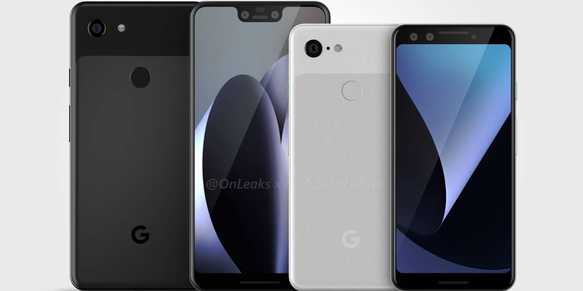 Esta sería la apariencia del Pixel 3 y Pixel 3 XL de Google
