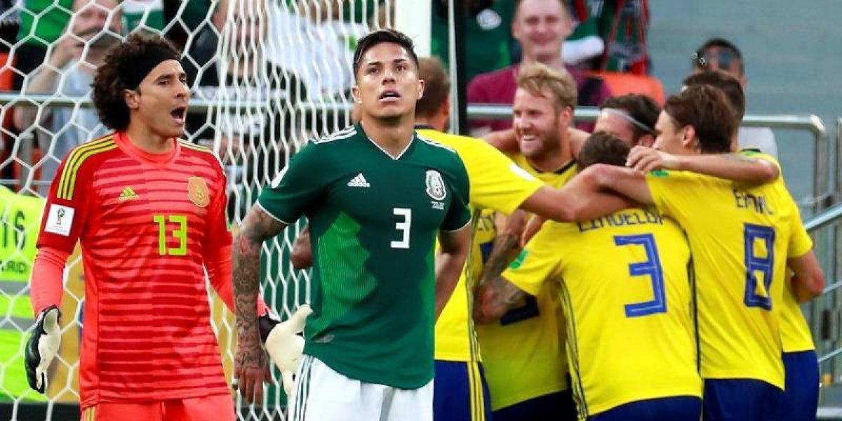 Suecia aplastó a México, que clasificó mirando la TV