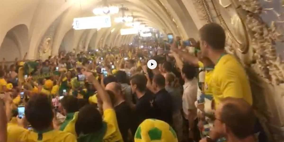 Copa do Mundo: Torcedores invadem metrô de Moscou para comemorar vitória sobre a Sérvia