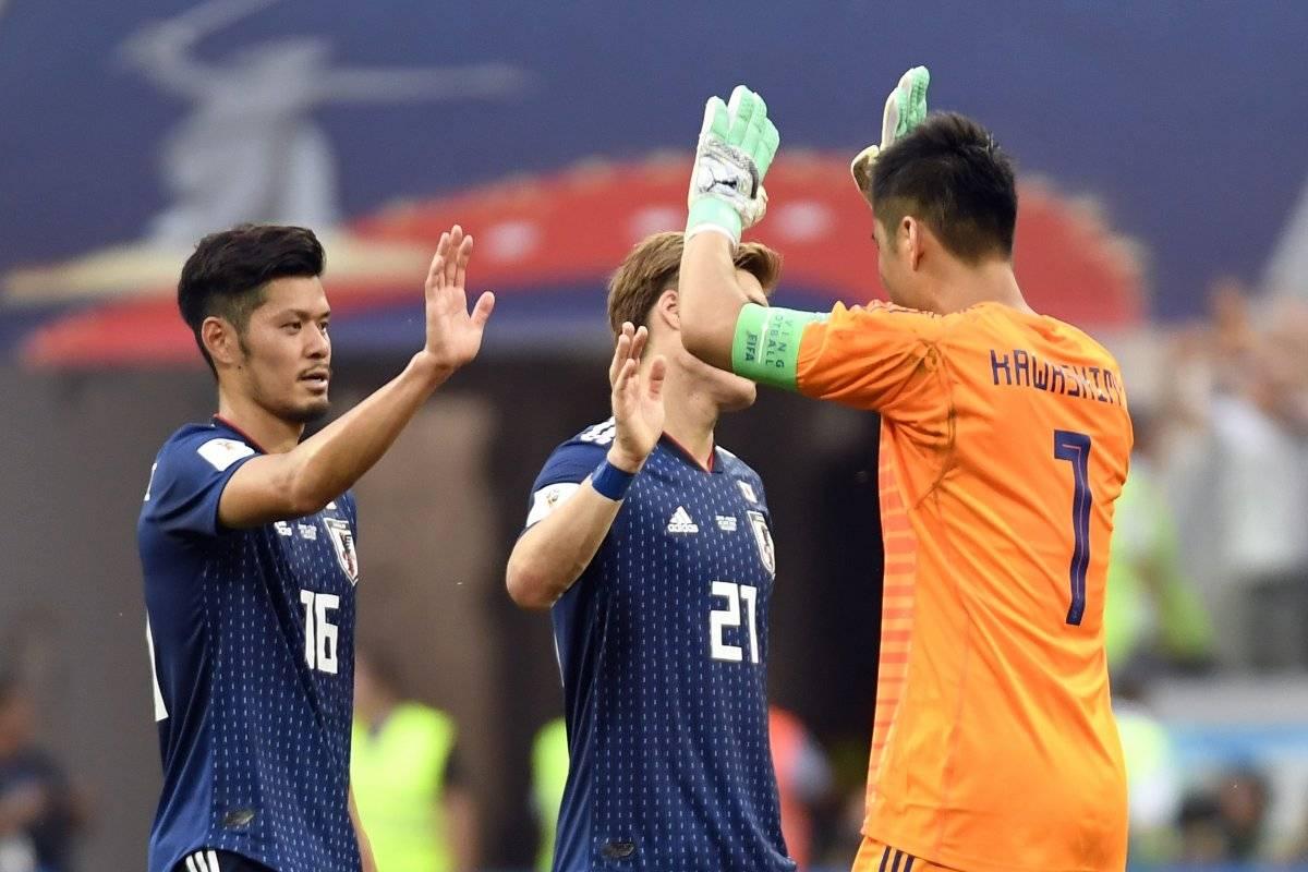 Los japoneses festejaron su clasificación.