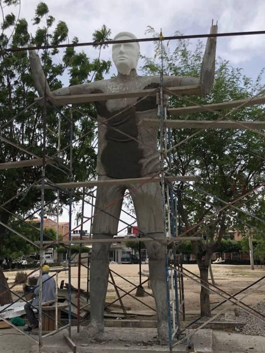 Monumento en homanaje a Radamel Falcao