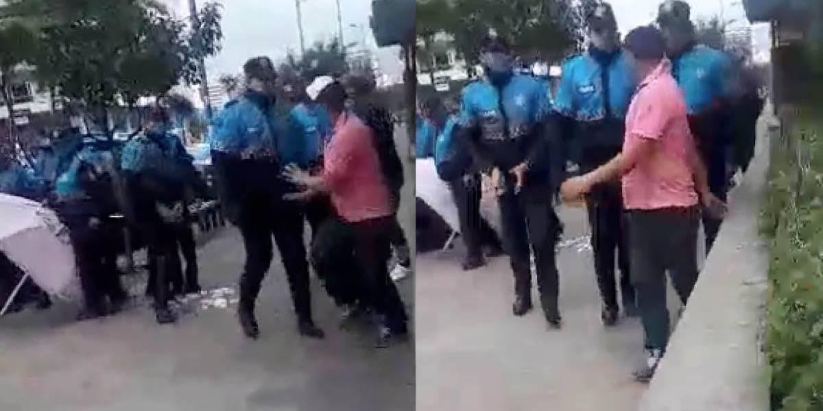 Video: Nuevo incidente entre agentes metropolitanos y ciudadano