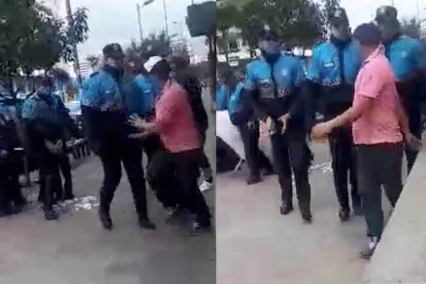 Pelea policías Metropolitanos