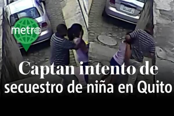 intento de secuestro niña Quito