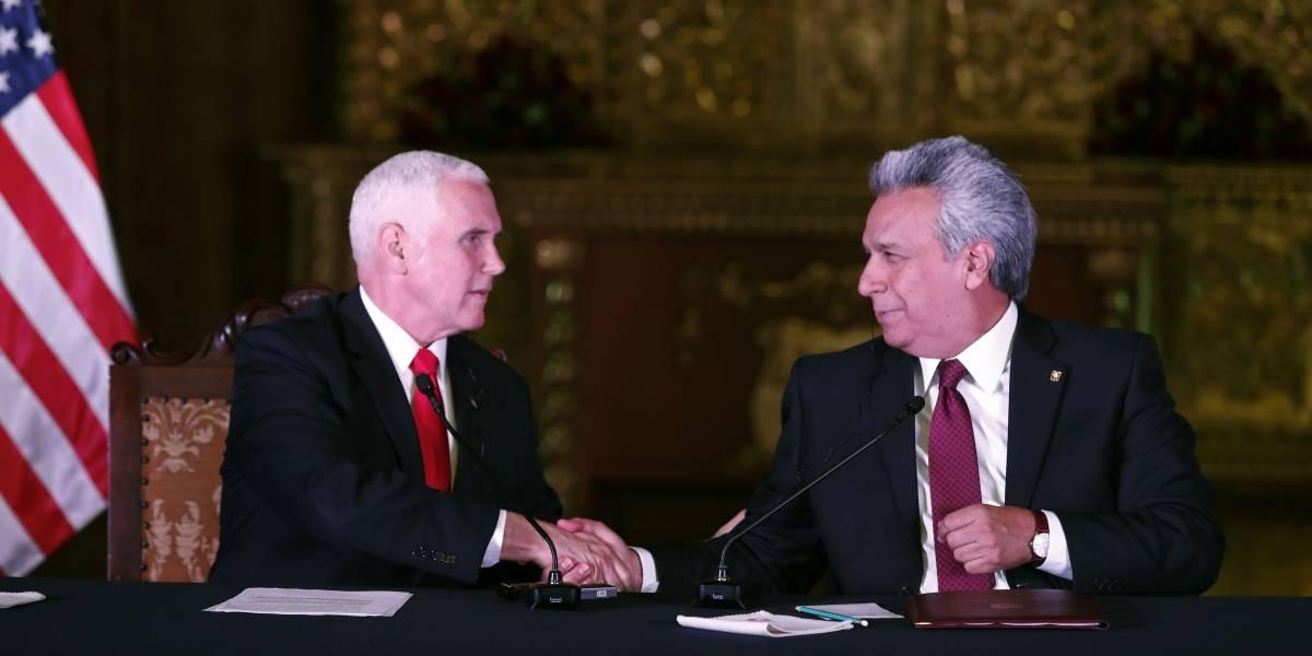 Visita a Ecuador de Mike Pence, vicepresidente estadounidense, renueva relaciones con EE.UU.