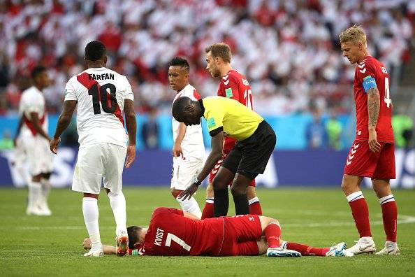 Lesión de William Kvist en el Mundial Rusia 2018 Getty Images