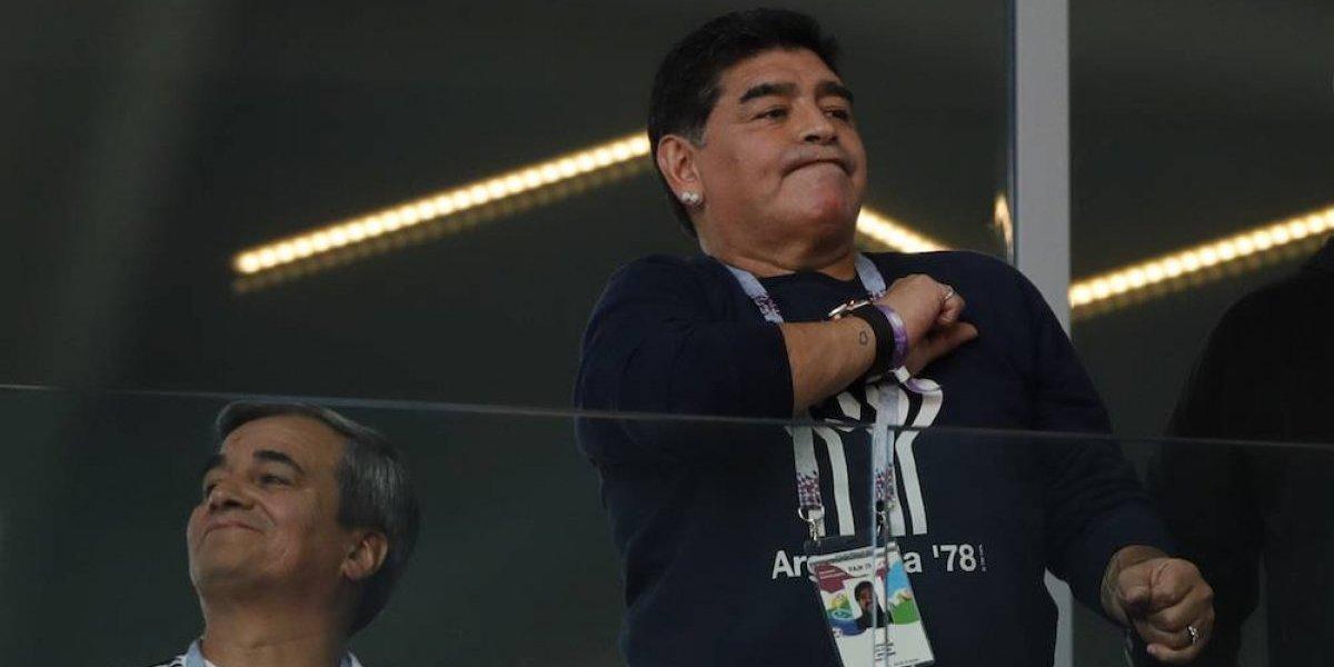 Estoy perfecto, nunca estuve mejor: Maradona