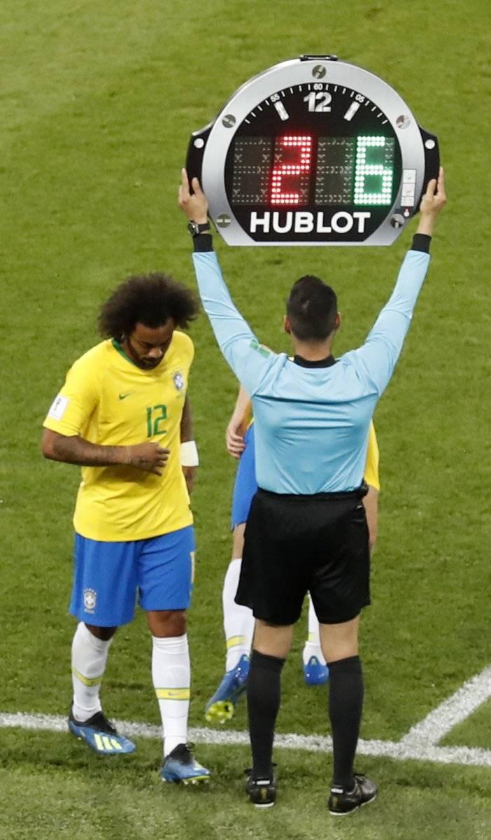 ¿Marcelo jugará ante México los octavos de final del Mundial Rusia 2018? AP