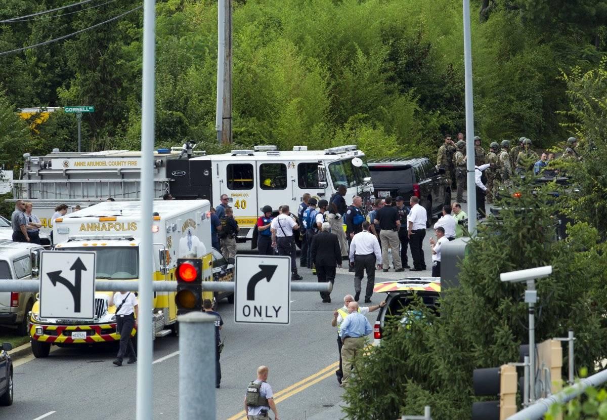 Primeras imágenes del tiroteo en la redacción del Capital Gazette Foto: AP