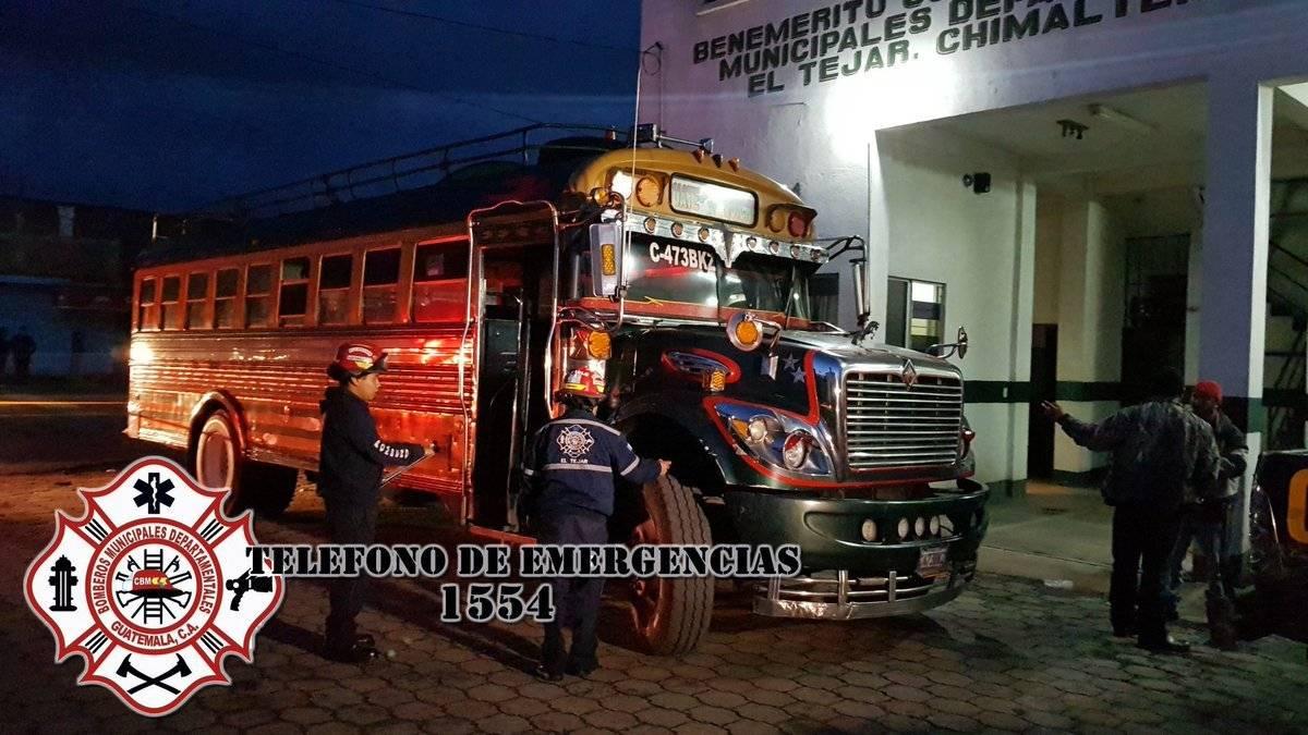 asalto a bus en Chimaltenango