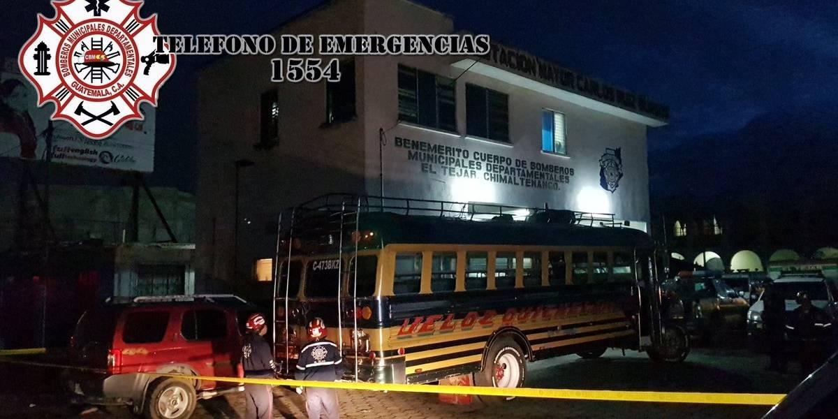 Asalto a bus en Chimaltenango deja dos personas heridas y una fallecida