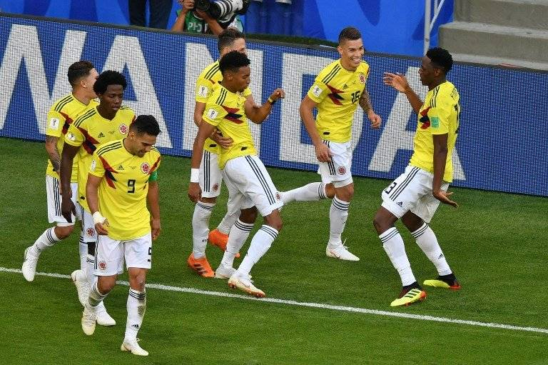 Con baile incluido celebraron los colombianos el gol de Mina