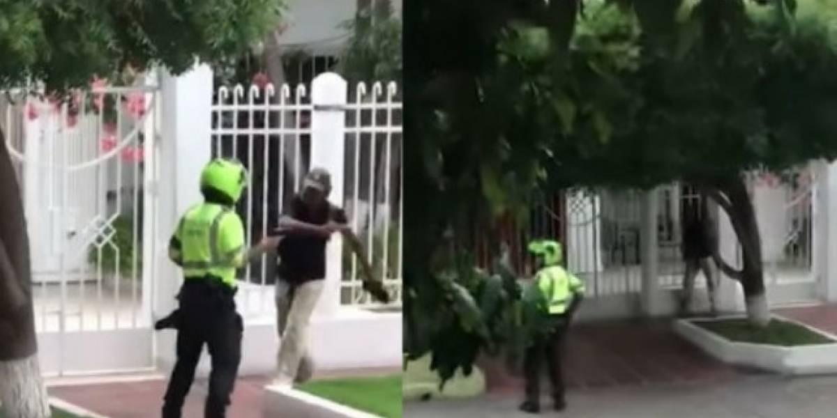Policía disparó a habitante de calle porque este lo amenazó con un puñal