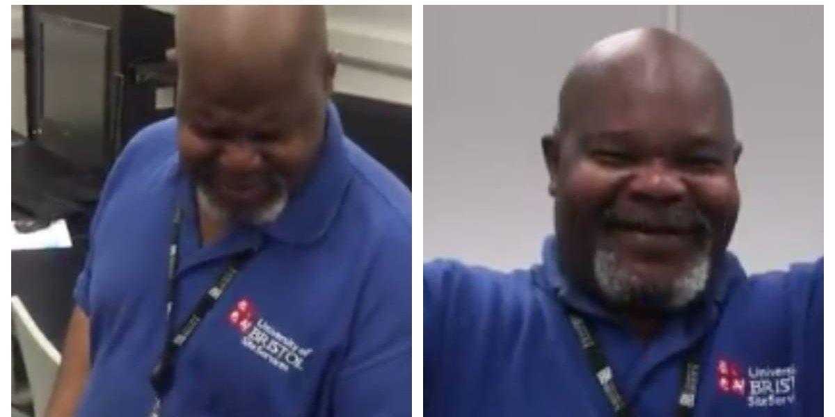 """""""Has iluminado muchos de nuestros días"""": estudiantes juntan 2 mil dólares para que el """"hombre de la limpieza"""" pueda irse de vacaciones a su país luego de 4 años"""