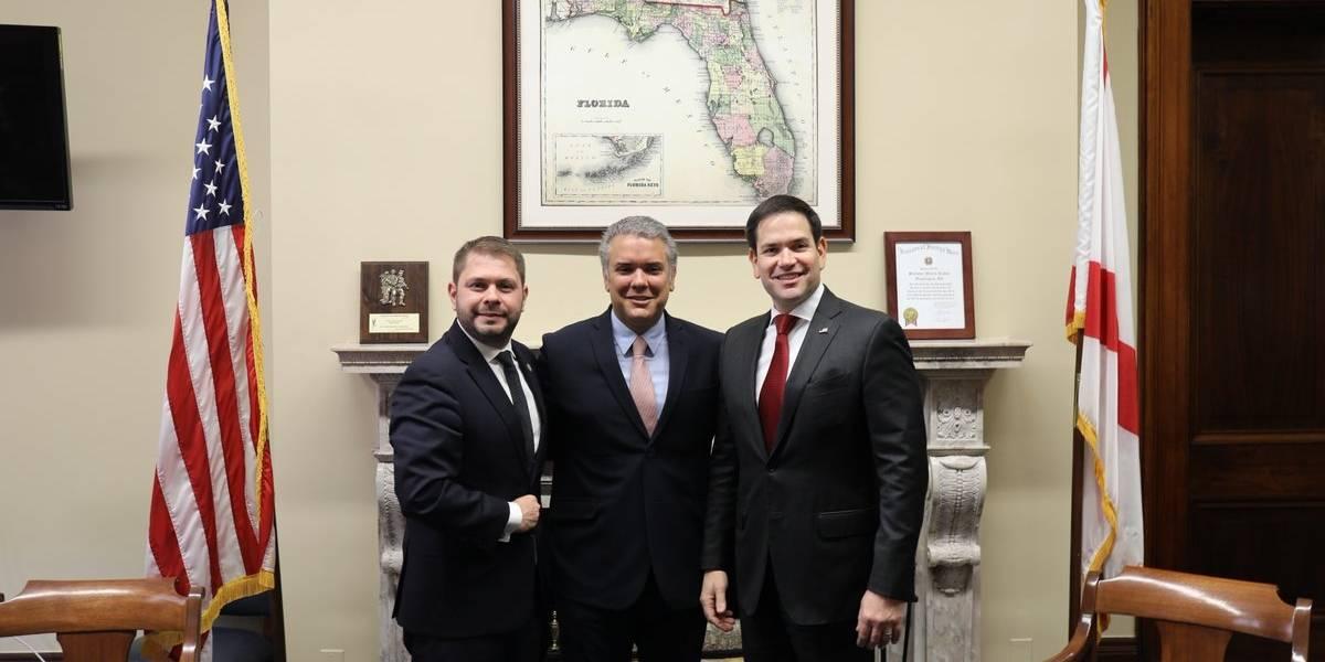 Iván Duque se ve con el senador Rubio y planea reunión con asesor de Trump