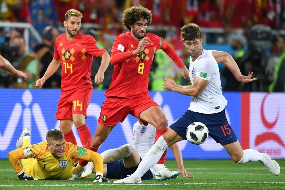 El juego entre Inglaterra y Bélgica estuvo muy parejo