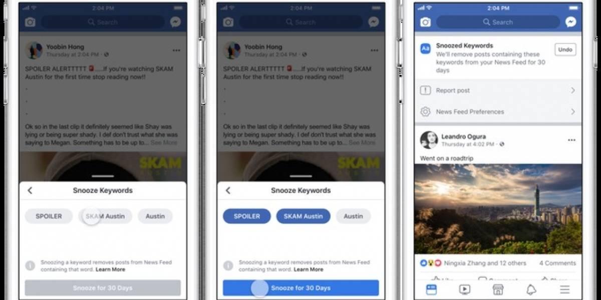 ¡Hasta nunca spoilers! Facebook implementa un filtro para evitar comentarios indeseados