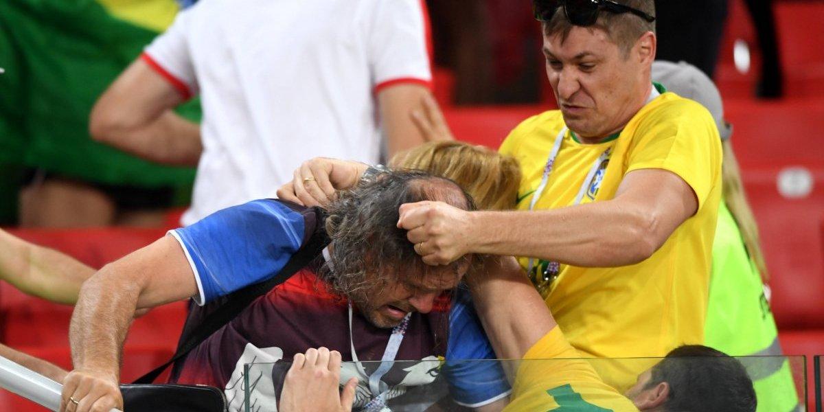 VIDEO: Aficionados de Brasil y Serbia protagonizan fuerte pelea