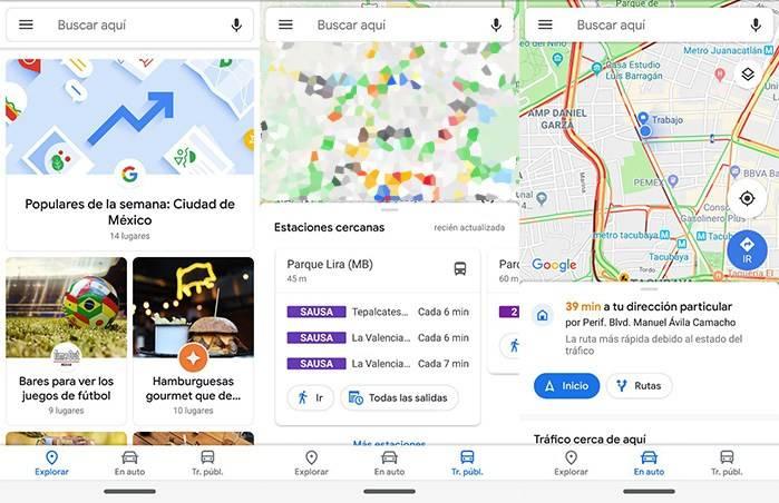 El nuevo diseño de Google Maps