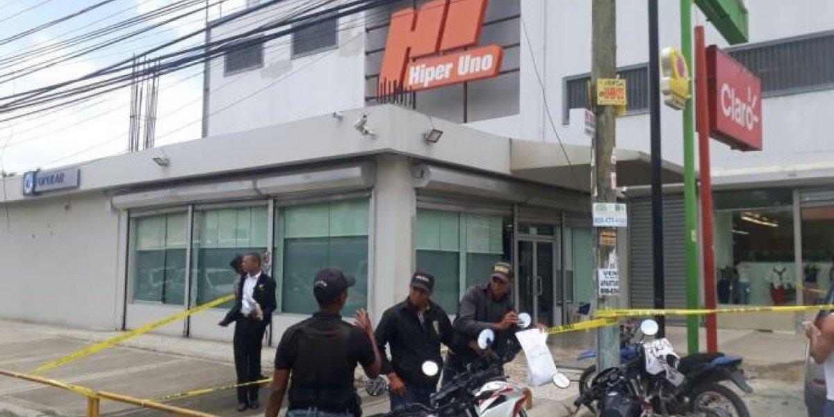 Asaltan sucursal del Banco Popular en el ensanche Isabelita